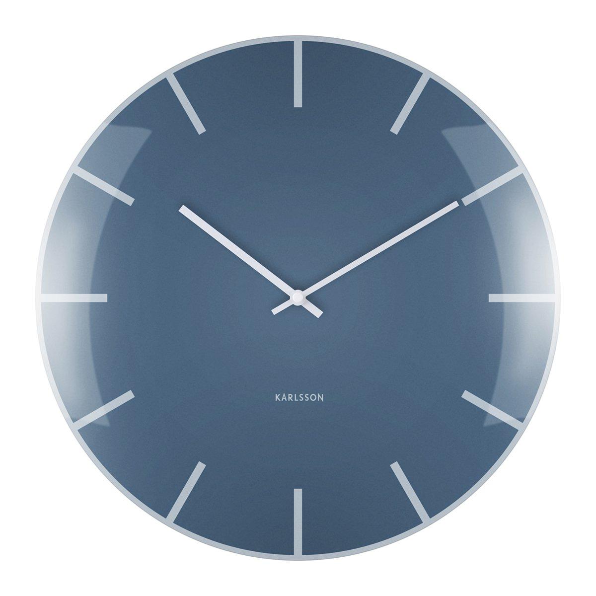Nástěnné hodiny Glass Dome – modré