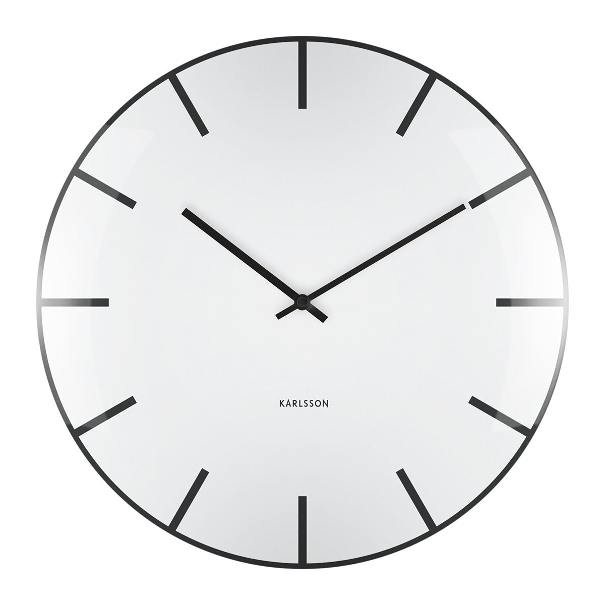 Nástěnné hodiny Glass Dome – bílé