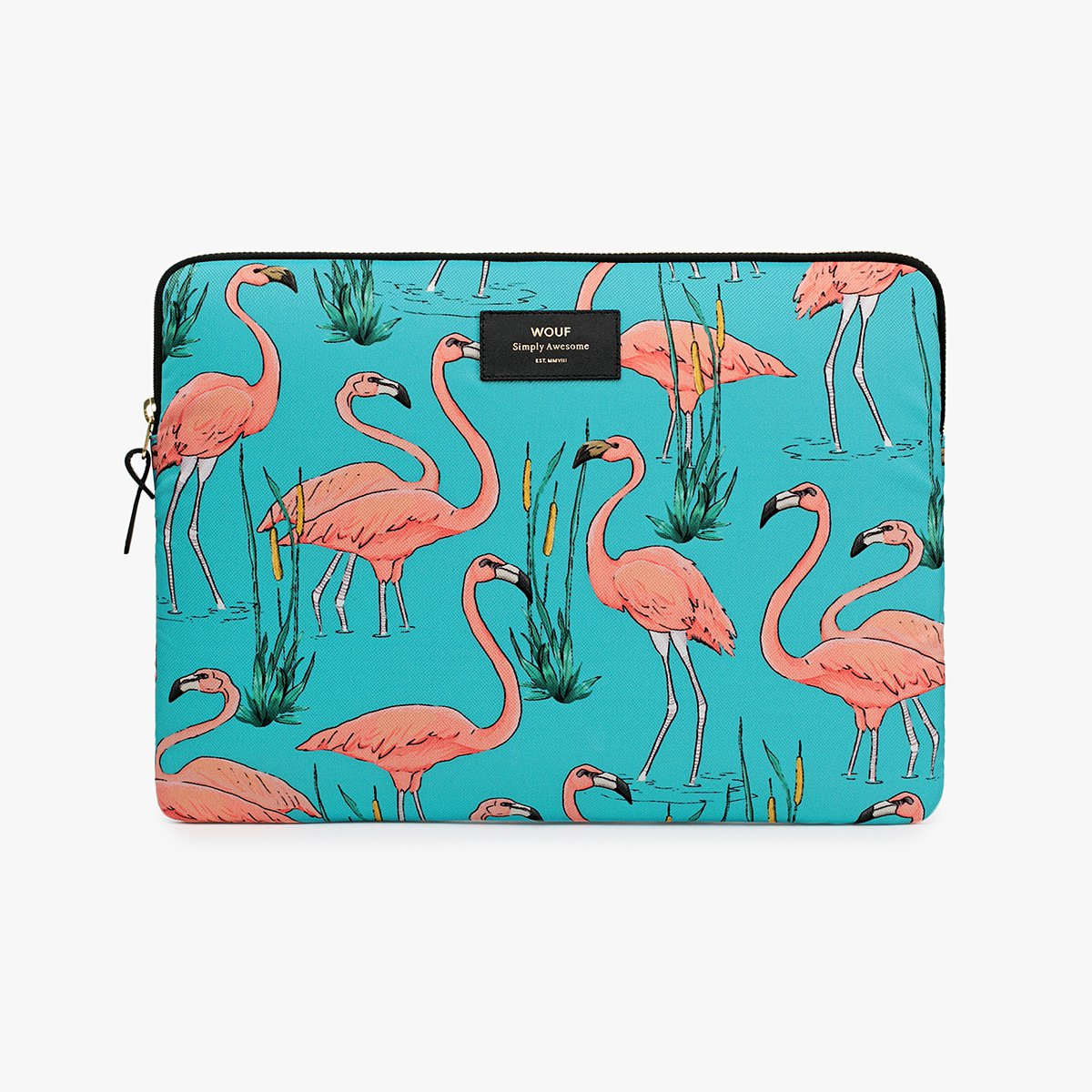 "Pouzdro na notebook 13"" – Pink Flamingos"