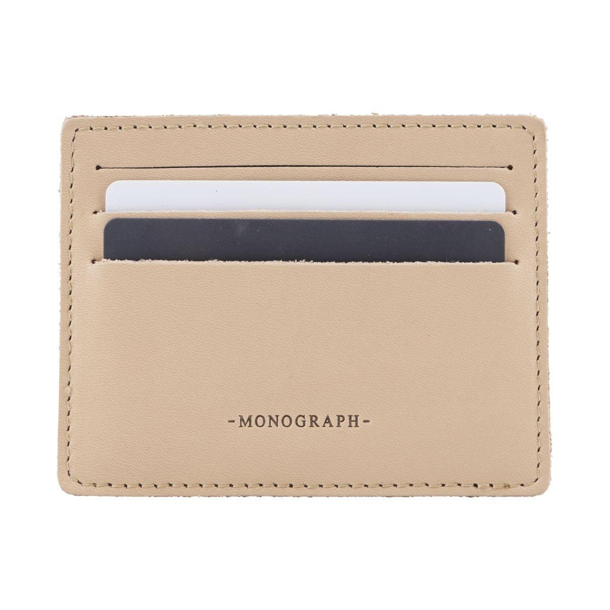 Béžové pouzdro na kreditní karty