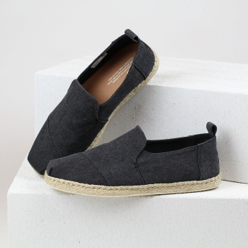 Černé espadrilky – Washed Canvas Deconstructed Alpargatas