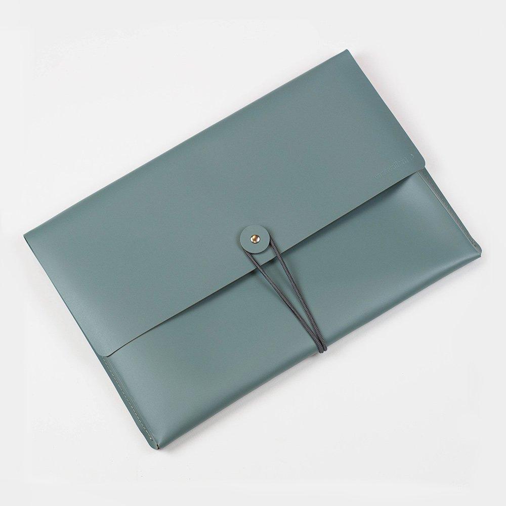 Kožené desky A4 – zelenošedé