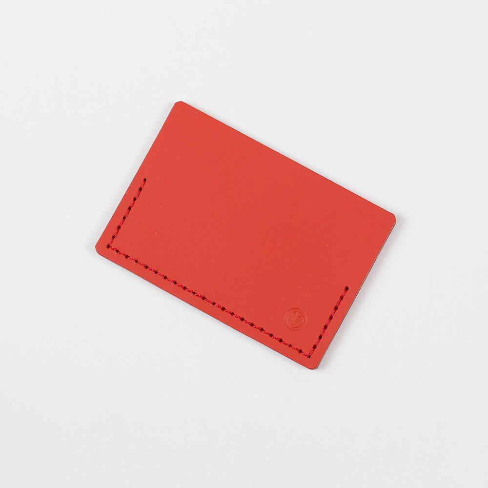 Kožené pouzdro na kreditní karty – červené