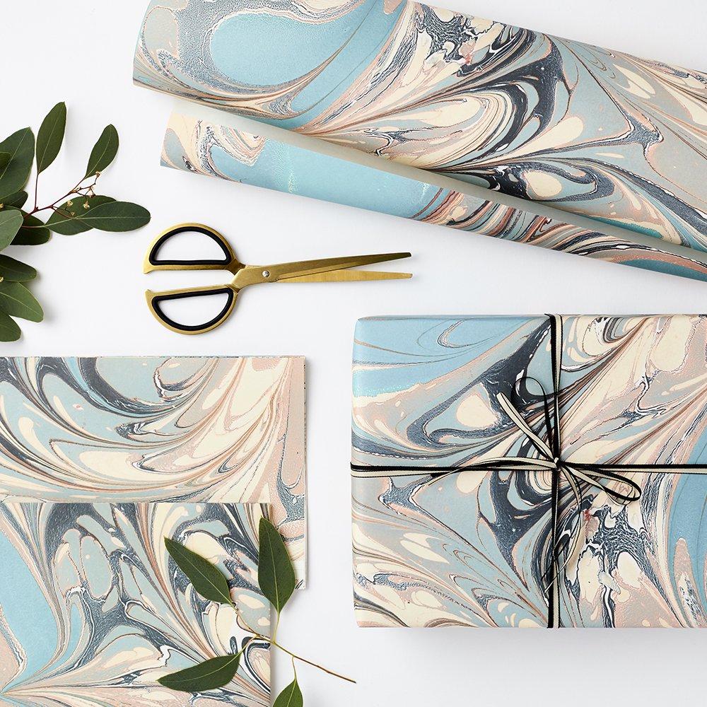 Luxusní mramorovaný balící papír