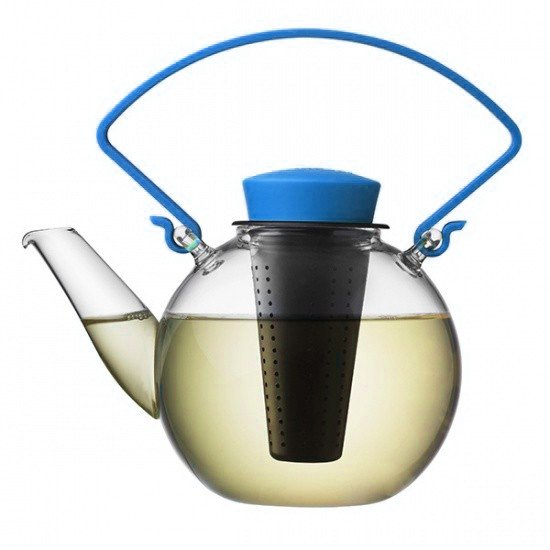 Skleněná čajová konvice Tea for U – modrá