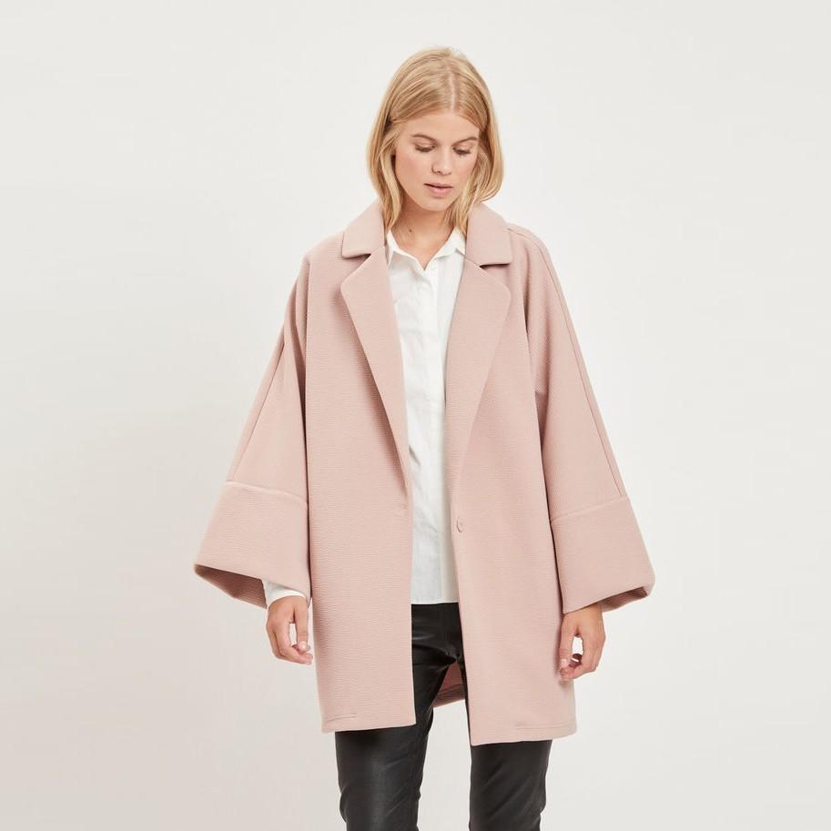 Starorůžový lehký kabát Viallu – XS