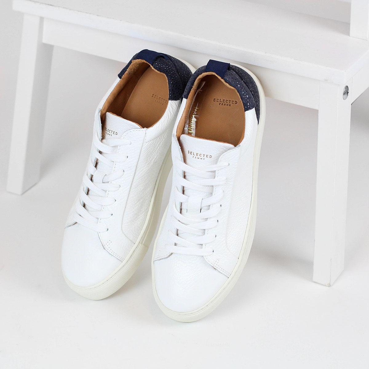 Kožené bílé tenisky Donna – 37