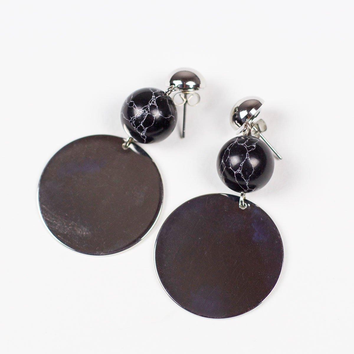 Černé náušnice Joella Pieces