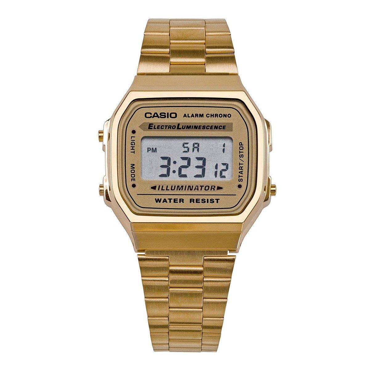 Zlaté digitální hodinky A168WG-9