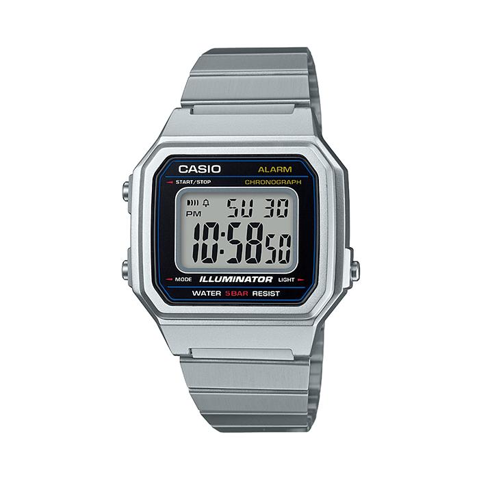 Stříbrné digitální hodinky B650WD-1A