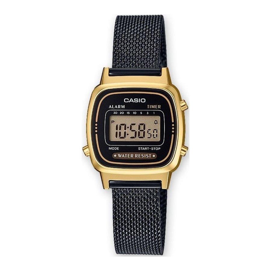 Černozlaté digitální hodinky LA670WEMB-1