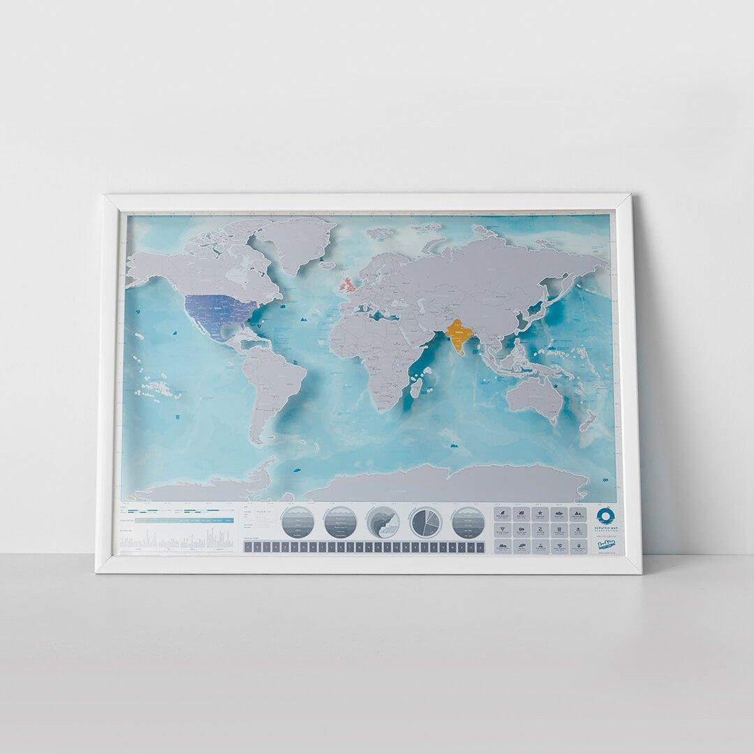 Stírací mapa světa OCEANS