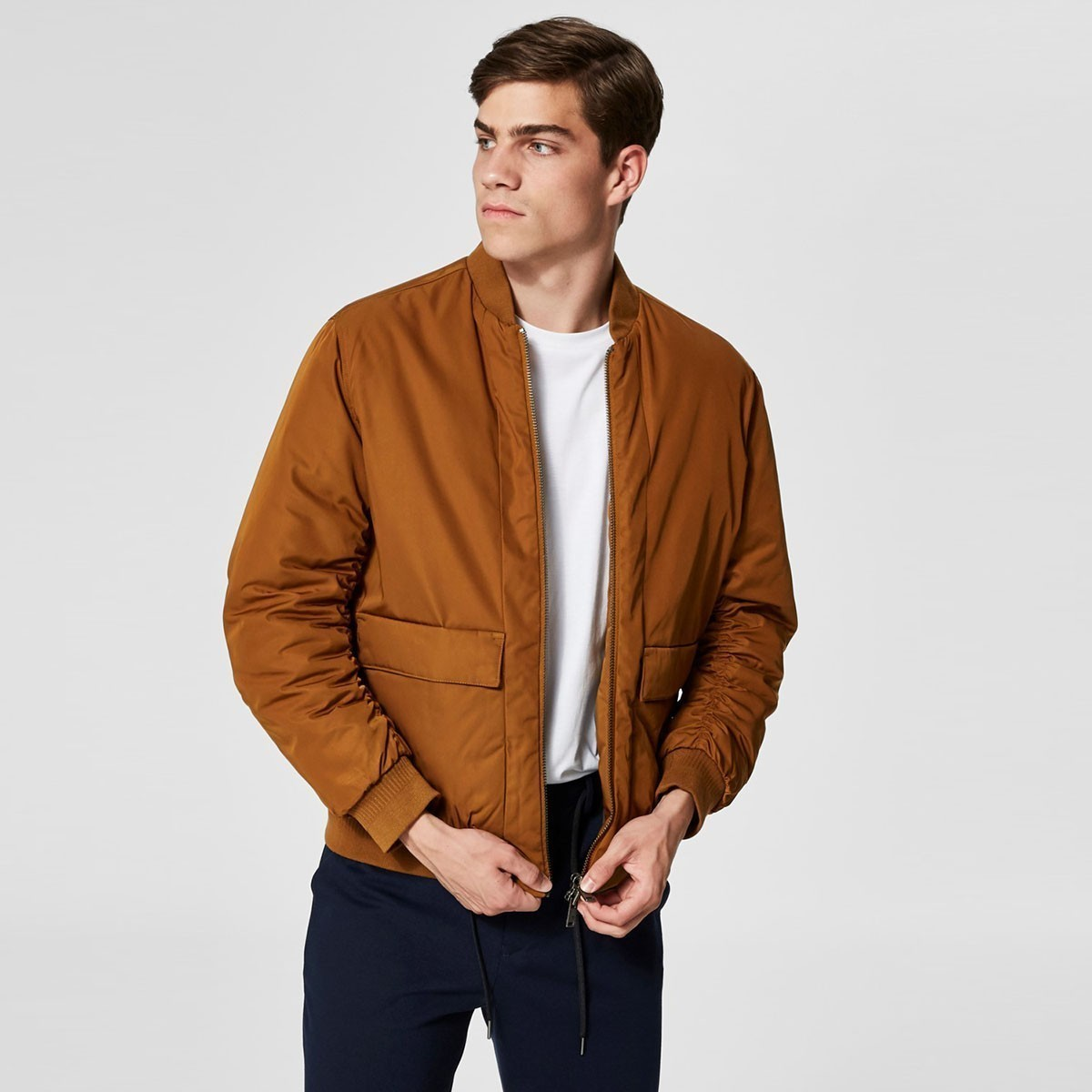 SELECTED HOMME Hnědý bomber Soho – S