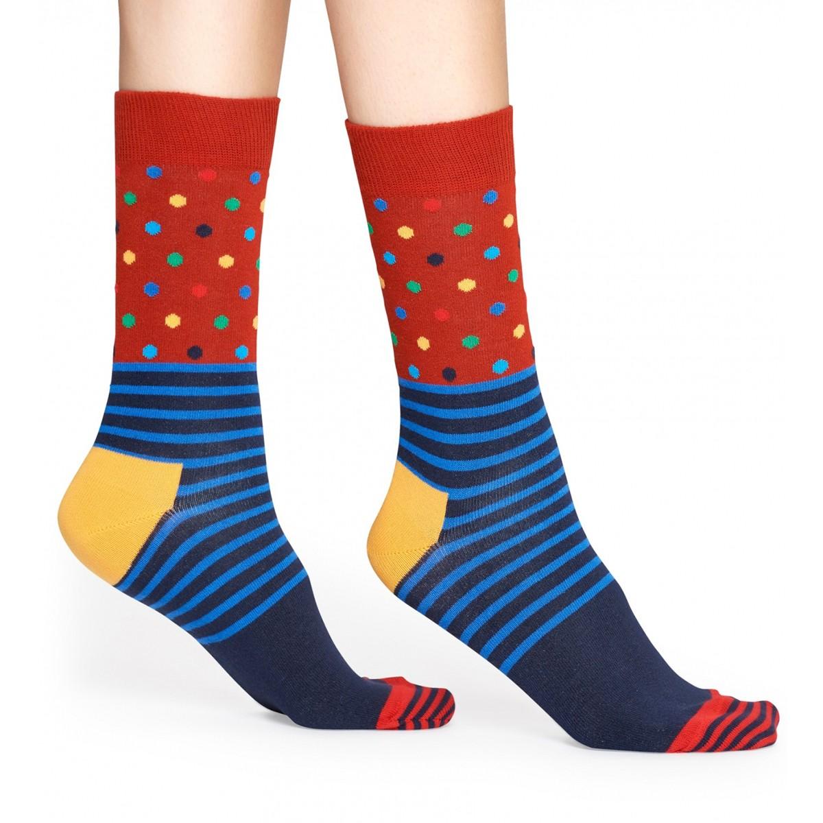 ad37c8b6230 Barevné vzrované ponožky Stripe Dot – 41 - 46