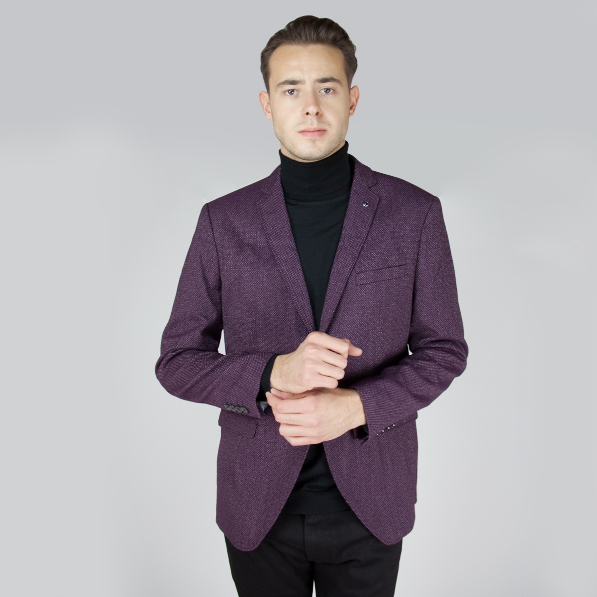 SELECTED HOMME Bordově hnědé sako Slim Clain – 46