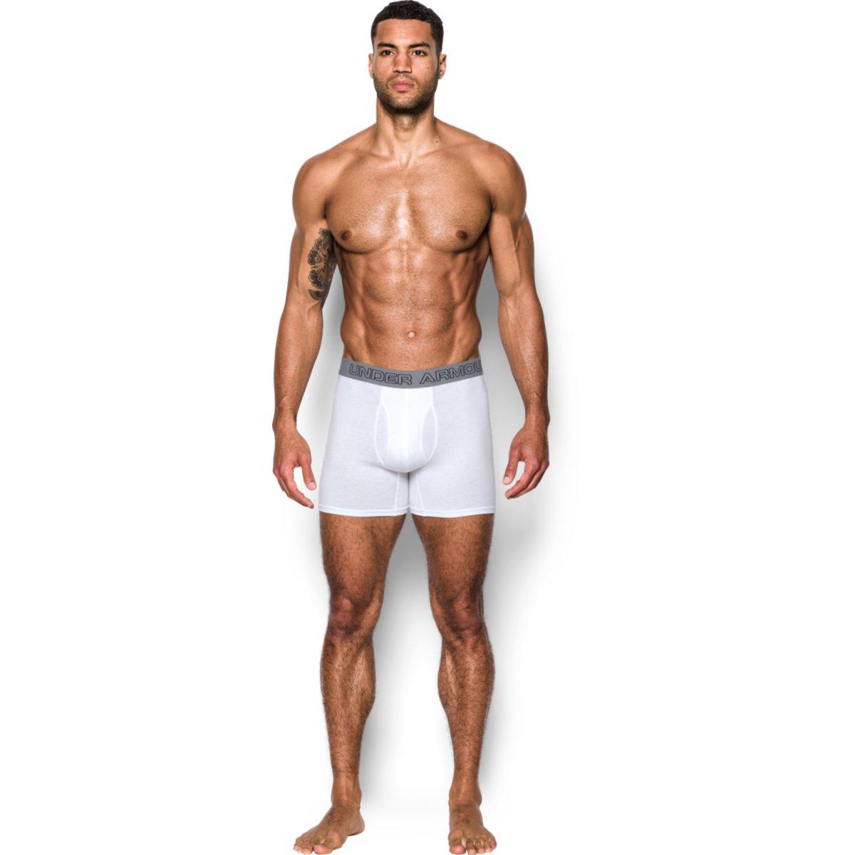 Sada 3 ks – Bílé boxerky Charged Cotton – S
