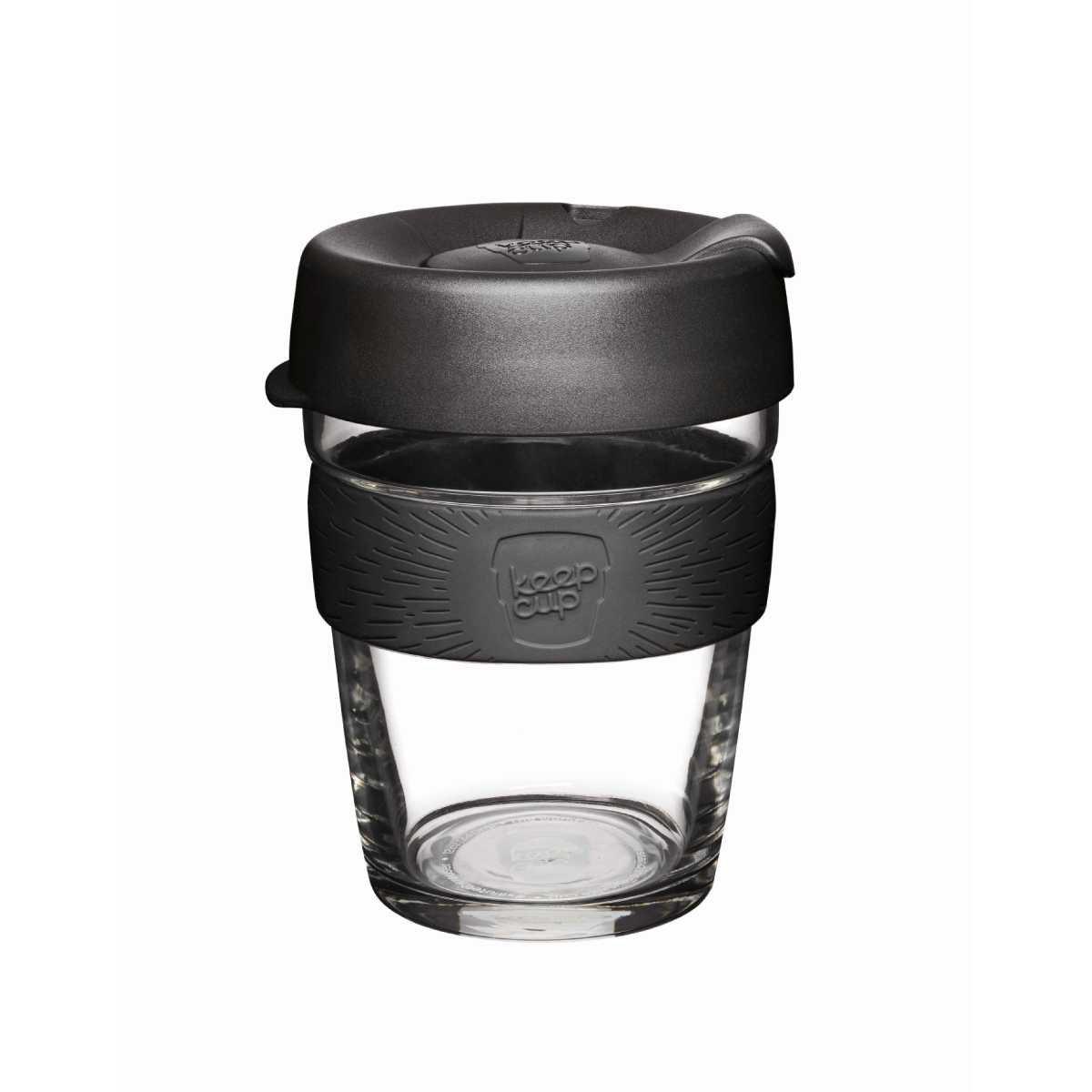 Designový skleněný hrnek Brew Black 340 ml