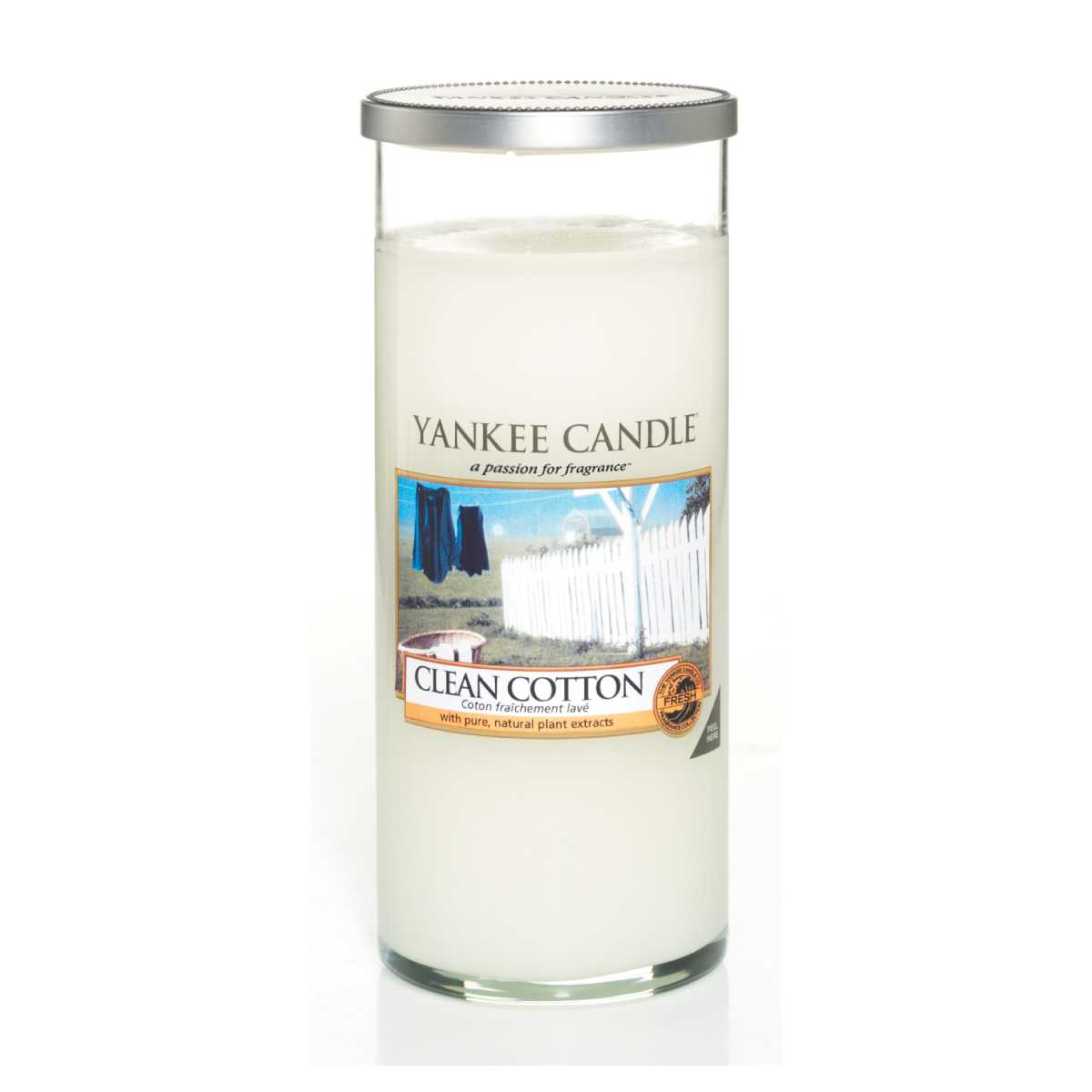 YANKEE CANDLE Vonná svíčka Clean Cotton – L