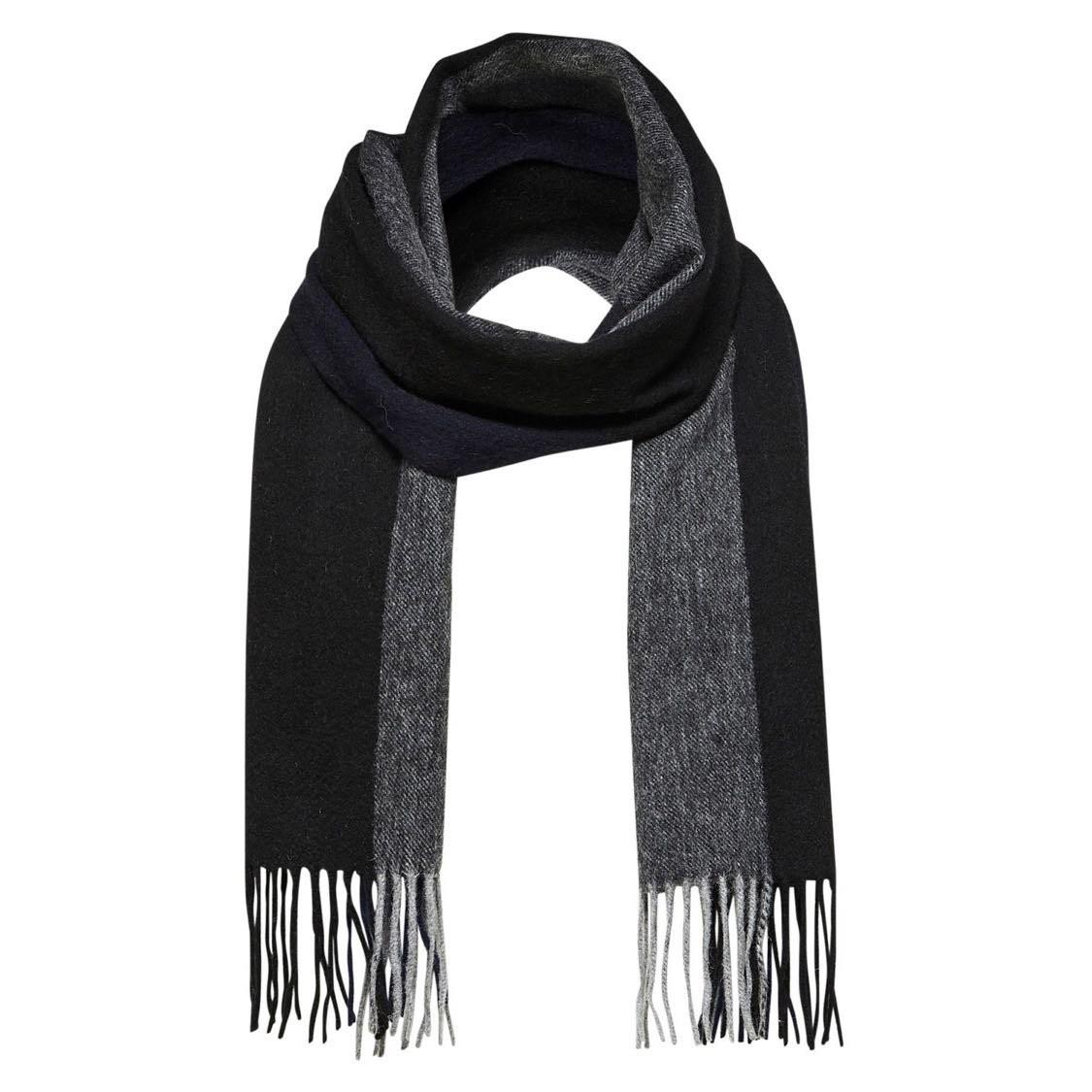 Vlněná černo-šedá šála Tope 1556cbd866