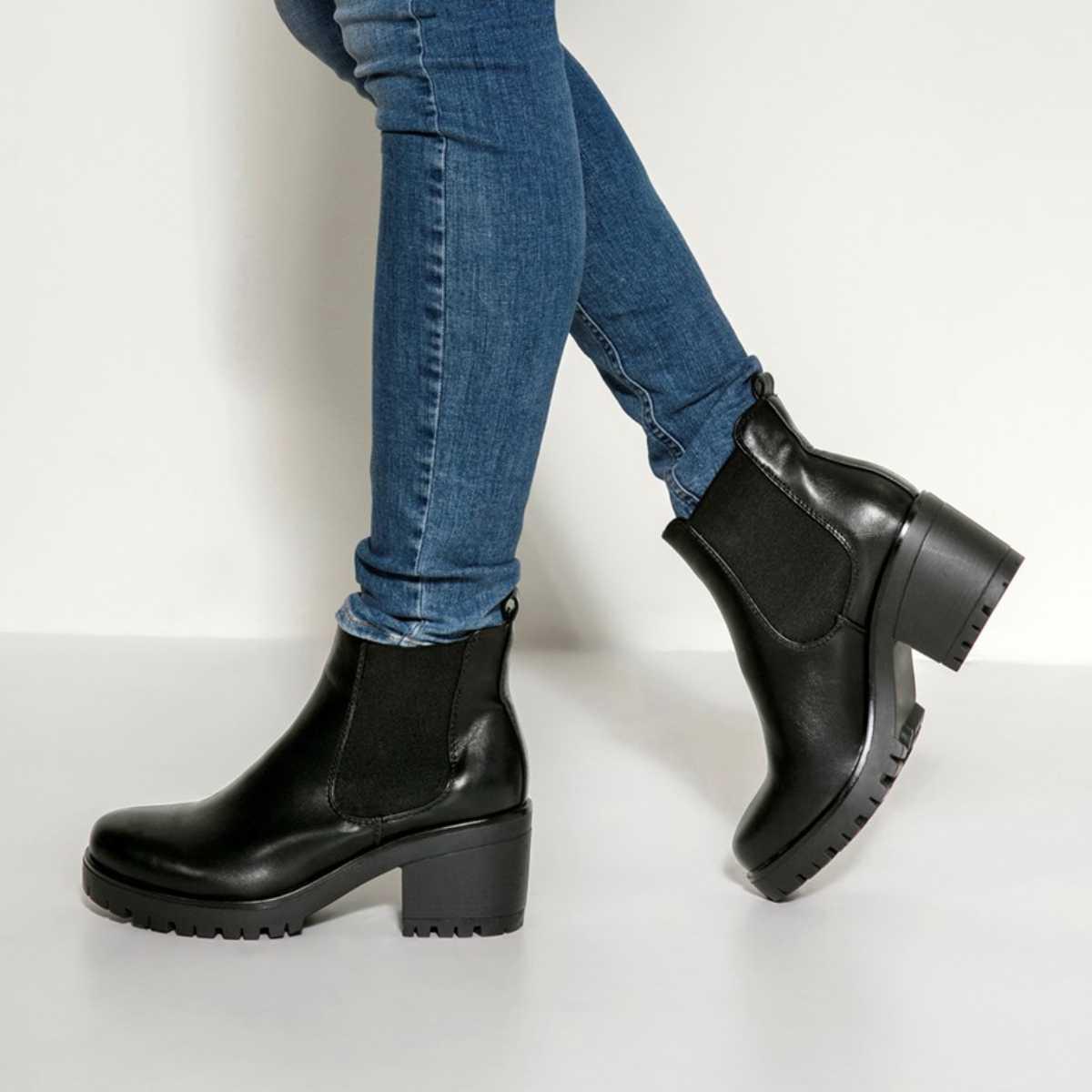 Černé kotníkové boty na podpatku Ditte Boot – 36 fe6d7c76f6