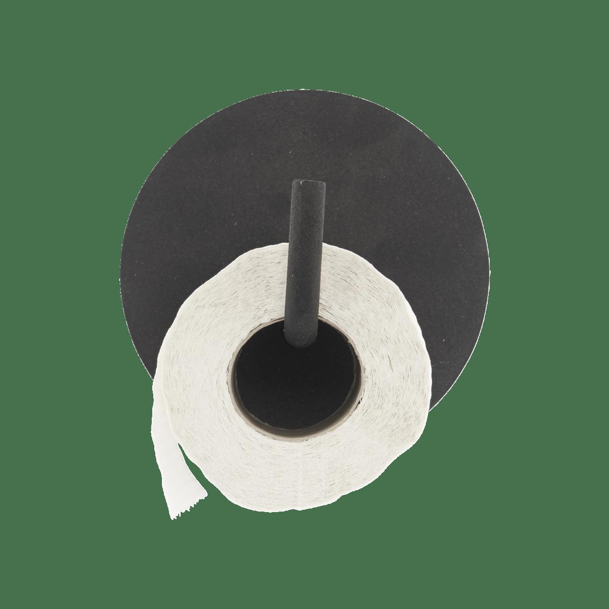 Černý držák na toaletní papír Text – II. jakost