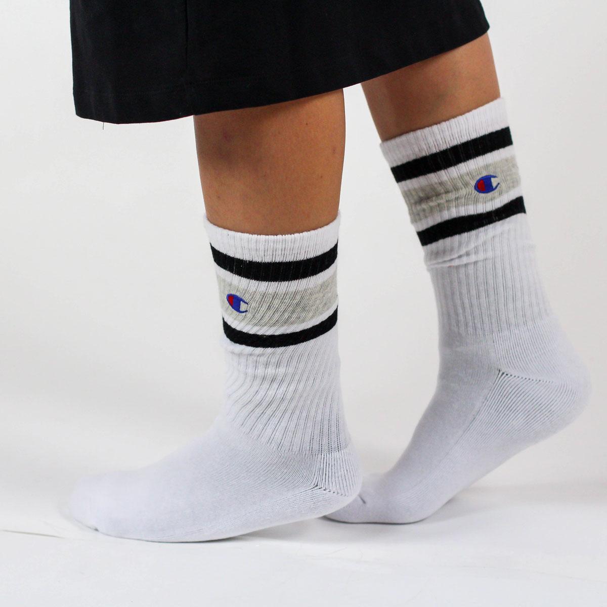 Bílé ponožky Crew Socks – 39 - 42 b92f85c6d0
