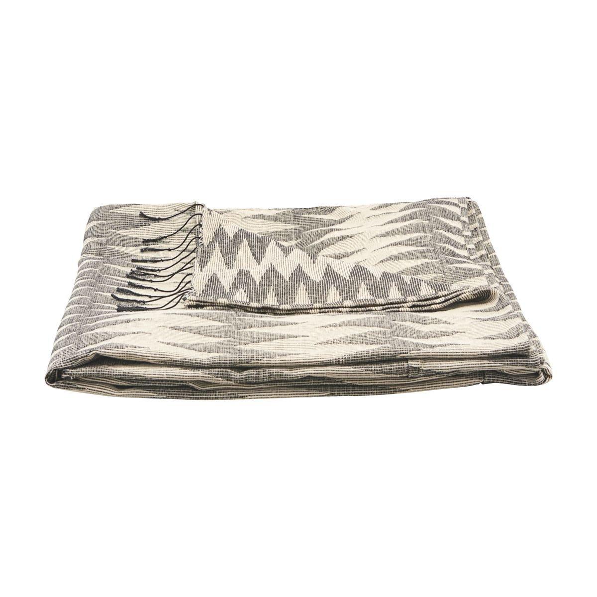 Šedo-krémová deka Totem