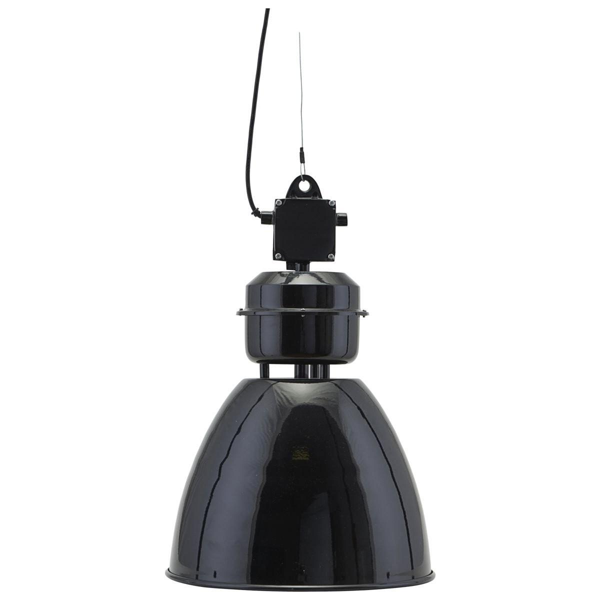 Černá závěsná lampa Volumen