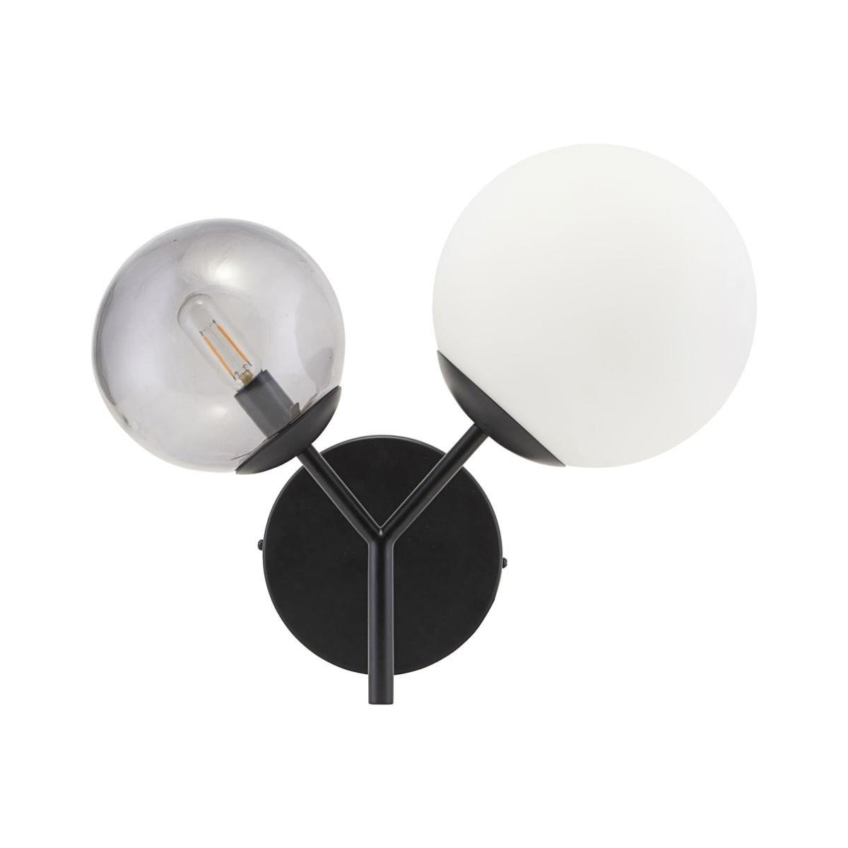 Bílo-černá nástěnná lampa Twice