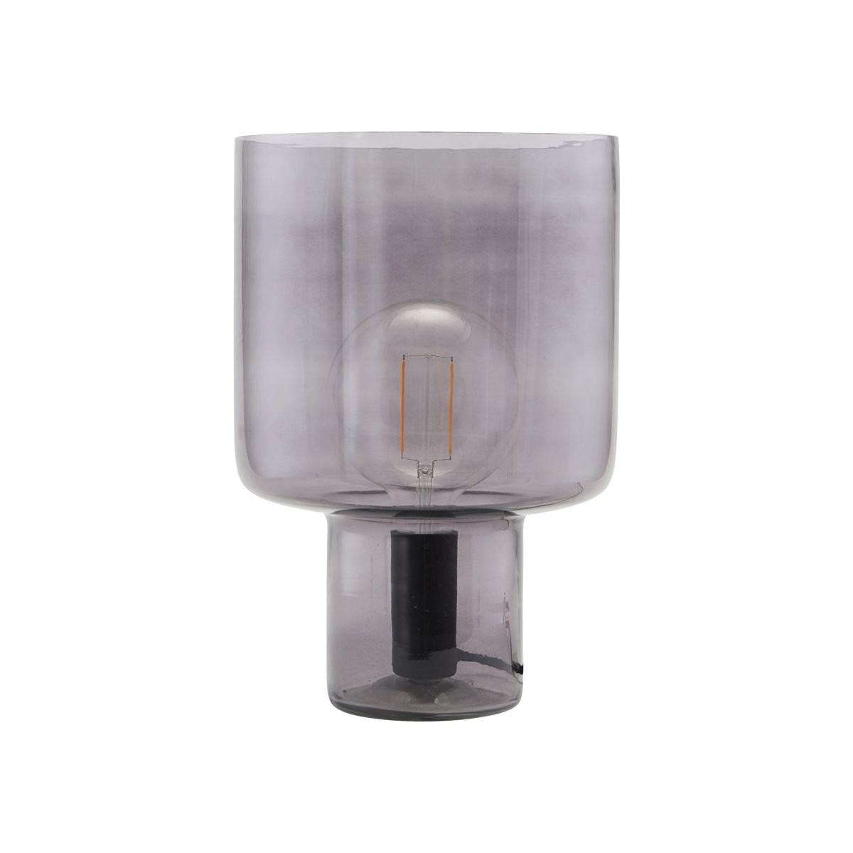 Černá stolní lampa ze skla Otto