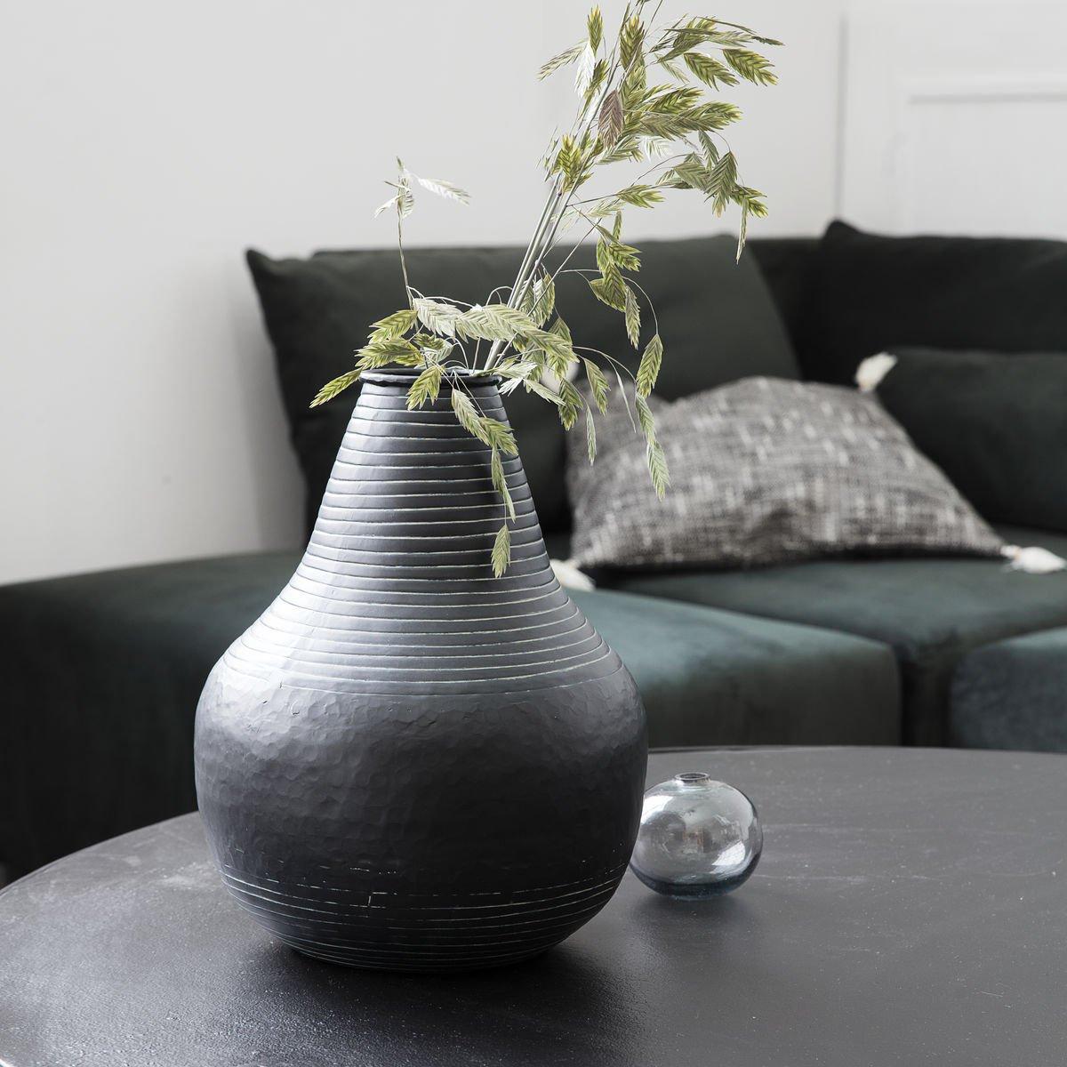 Sada 2 ks – Černá váza stříb