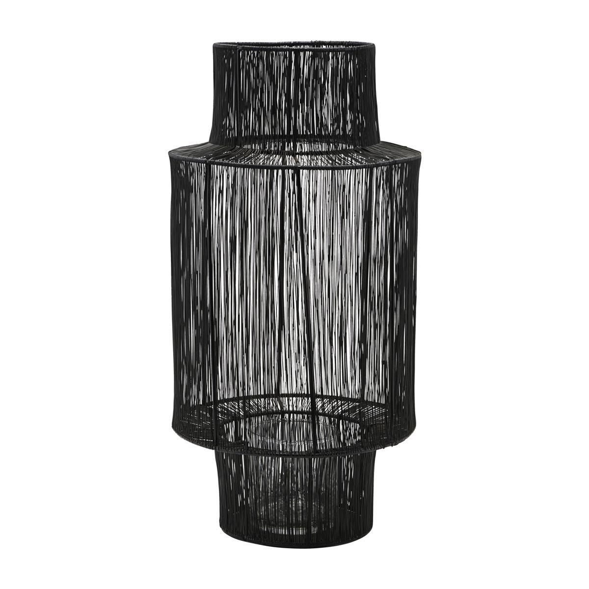 Černá kovová lucerna Tabia