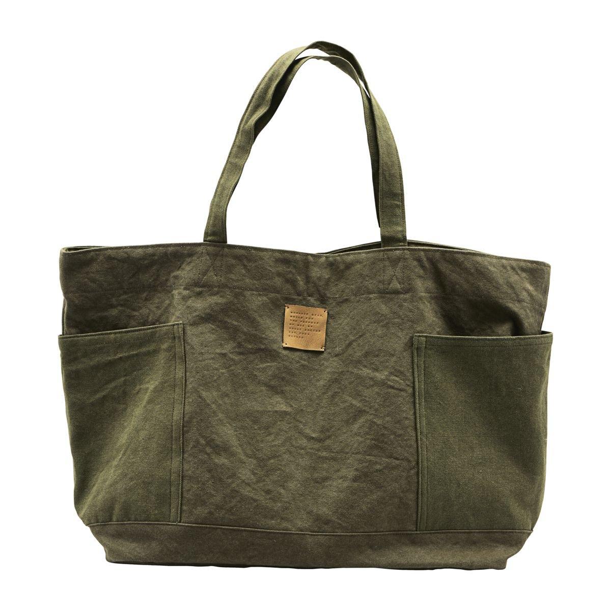 Olivová plátěná taška Weekend