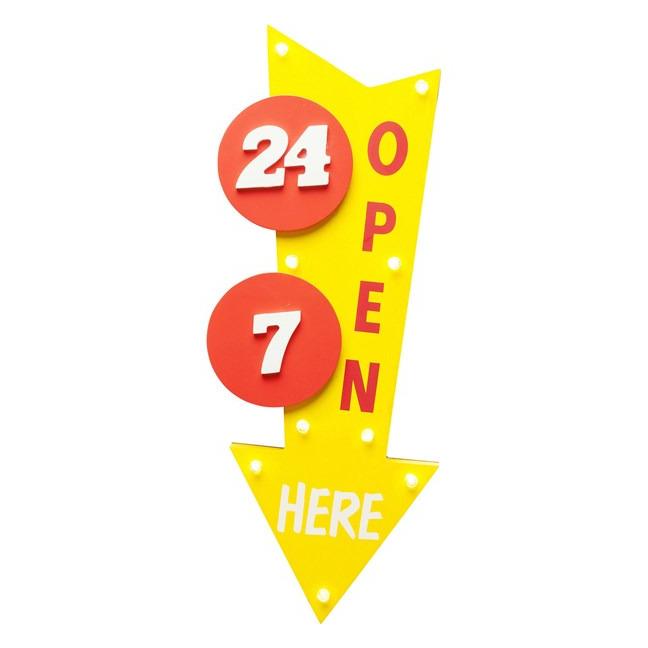 Sada 2 ks − Nástěnné světlo Open Here LED