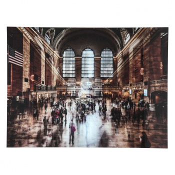 Obraz na skle Grand Central Station 120 × 160 cm