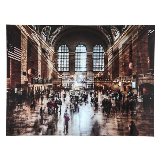 KARE DESIGN Obraz na skle Grand Central Station 120 × 160 cm