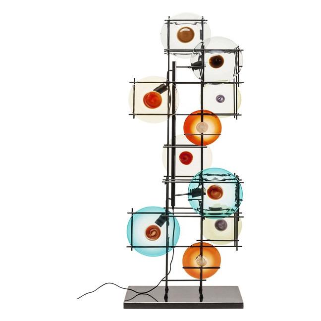 Stojací lampa Disk Colore