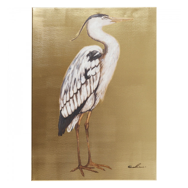 KARE DESIGN Sada 2 ks − Obraz s ručními tahy Heron Right 70 × 50 cm