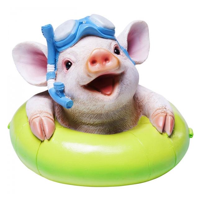 Sada 2 ks − Kasička Floating Pig