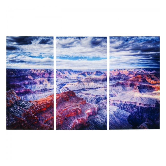 KARE DESIGN Obraz na skle Triptychon Grand Canyon 160 × 240 cm - set 3 ks