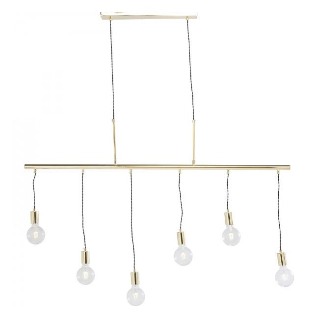 Závěsná lampa Pole Brass Six