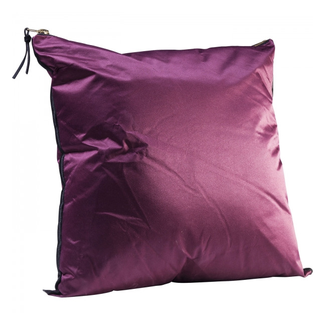 KARE DESIGN Sada 2 ks − Polštářek Zipper Purple 45 × 45 cm