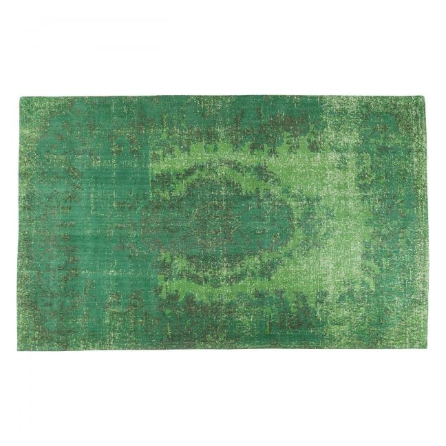 Koberec Kelim Ornament Green 240 × 170 cm
