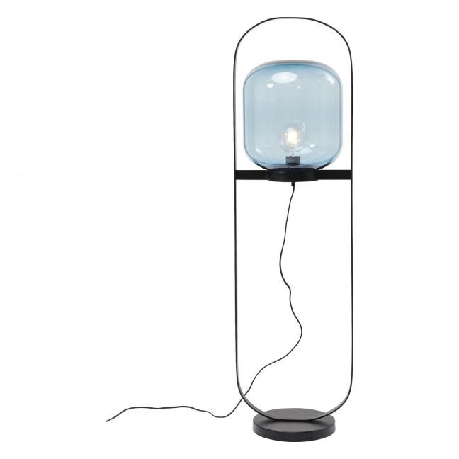 Stojací lampa Jupiter - modrá a černá Kare Design