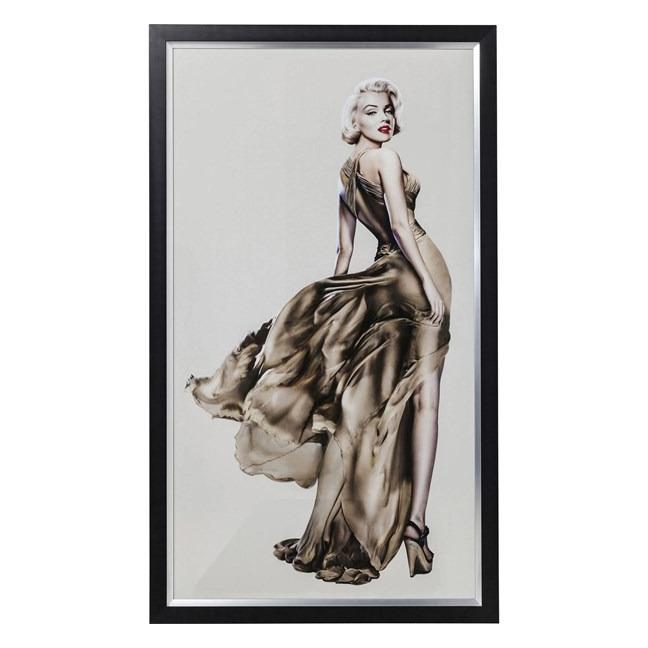 Obraz s rámem Marilyn 172 × 100 cm