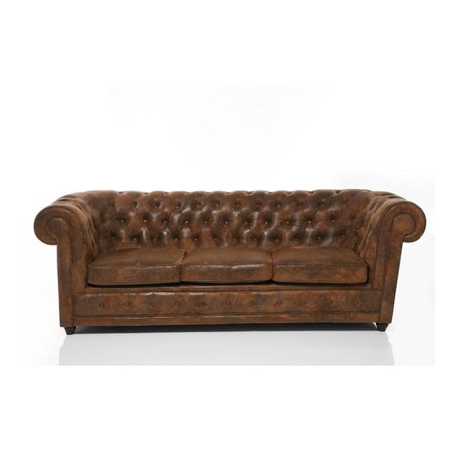 Sofa Oxford trojsedačka Vintage Eco