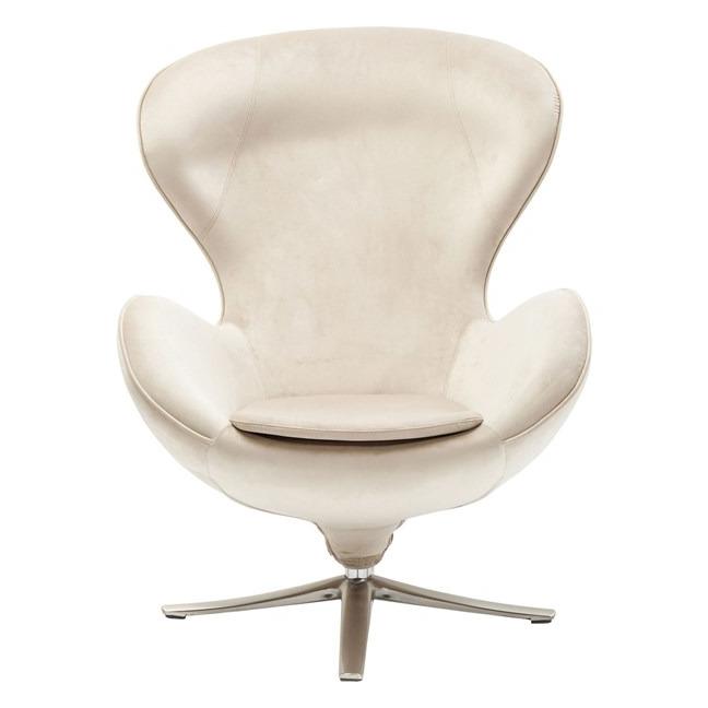 Otočná židle Lounge Velvet - béžová
