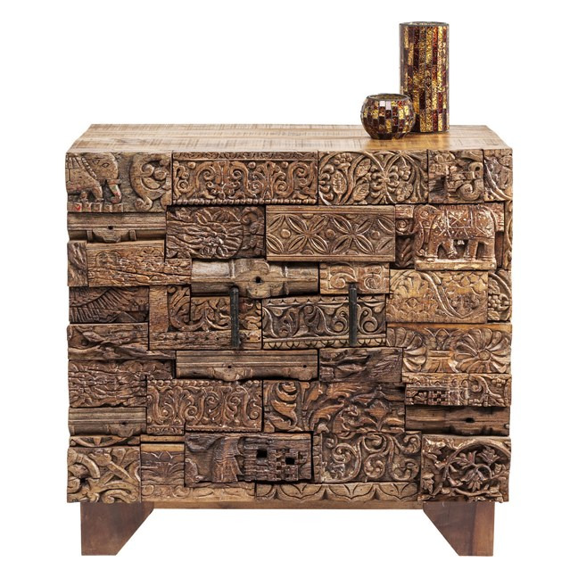 KARE DESIGN Komoda Shanti Surprise Puzzle Nature 2 Doors