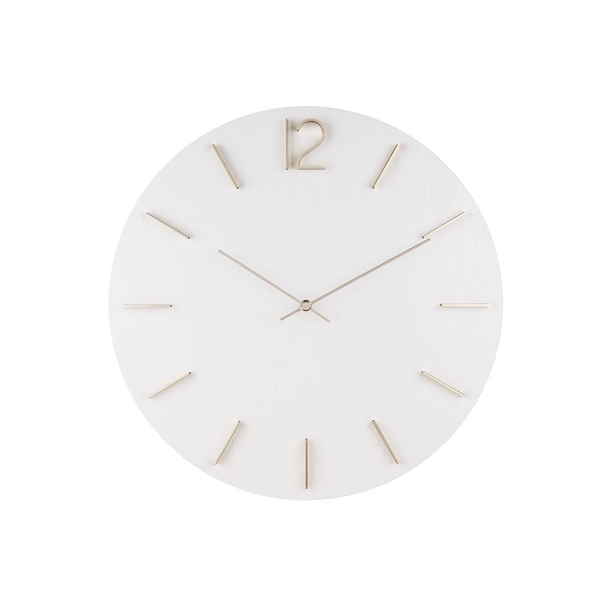 Nástěnné bílé hodiny Meek MDF