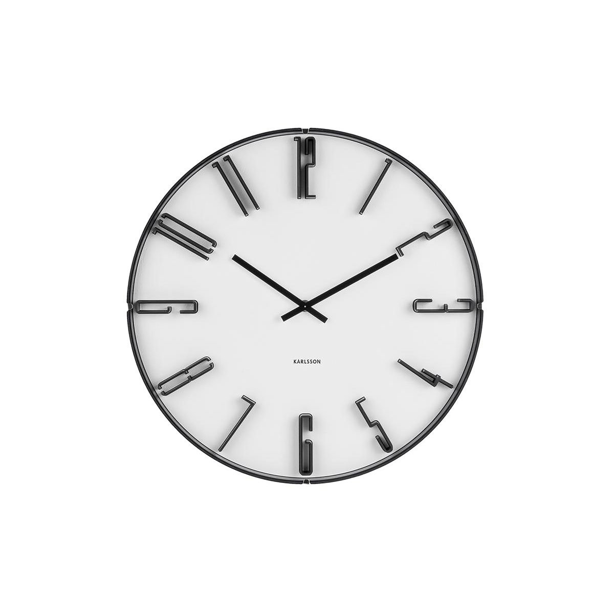 Nástěnné bílé hodiny Sentient